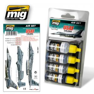 Ammo Mig Jimenez USAF Grey Modern Jets, color set 4x17ml.
