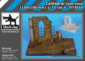 Black Dog Cathedral ruin base (150x100 mm)
