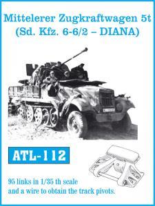Friulmodel Mitteleler Zugkraftwagen 5t ( Sd. Kfz. 6-6/2 - DIANA) - Track Links