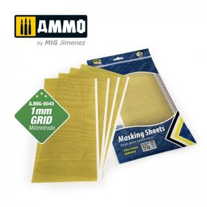 Ammo Mig Jimenez Masking Sheets, 1 mm Grid, 290 x 145 cm (5 pcs)