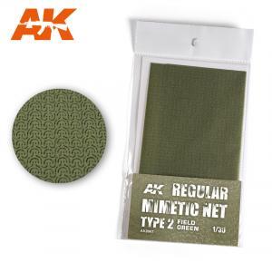 AK Interactive REGULAR CAMOUFLAGE NET Type 2 FIELD GREEN