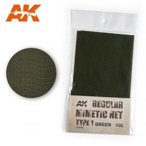 AK Interactive REGULAR CAMOUFLAGE NET Type 1 GREEN