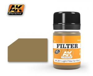 AK Interactive OCHER FOR SAND / LIGHT FILTER FOR WOOD