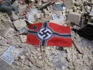 Reality in Scale German War Flags WWII / Set 2 - 18pcs. Printed on real cotton sheet