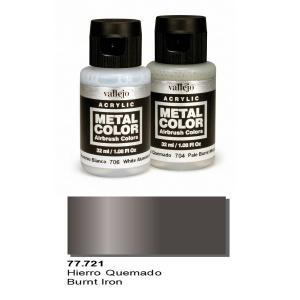 Vallejo Metal Color, Burnt Iron, 32ml.