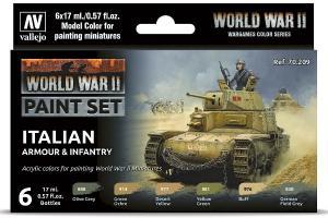 Vallejo WWII ITALIAN ARMOUR & INFANTRY 6X17ML