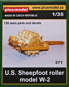 Plus Model U.S. Sheepfoot Roller Model W-2