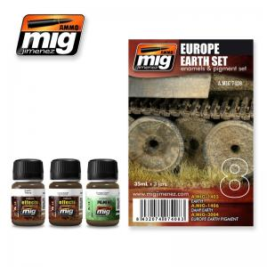 Ammo Mig Jimenez Europe Earth, set 3x35ml.