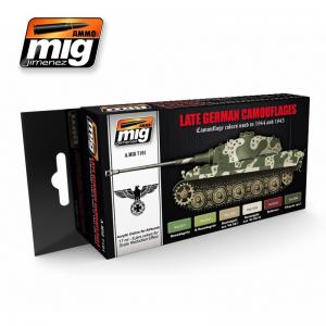 Ammo Mig Jimenez Late German Camouflage, color set 6x17ml.