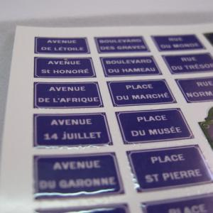 Reality in Scale Enamel French Streetsigns