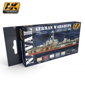 AK Interactive GERMAN WARSHIPS COLORS SET
