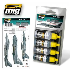Ammo Mig Jimenez 1980 to Present, US Navy, color set 4x17ml.