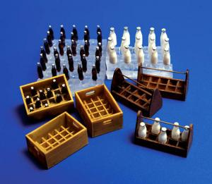 Plus Model Milk bottles and crates