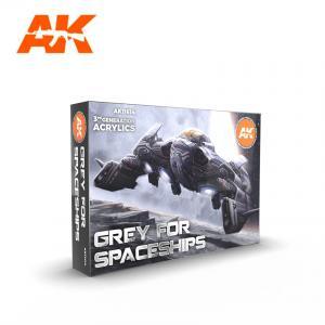 AK Interactive Grey for Spaceships Color Set