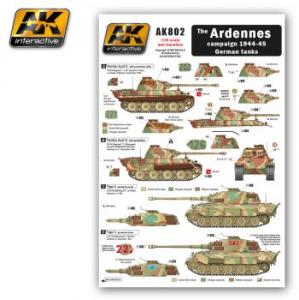 AK Interactive The ARDENNES campaign 1944-45 German tanks