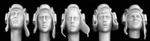 Hornet Models 5 different heads with WW2 Soviet tank helmet