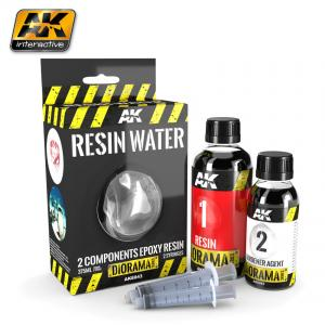 AK Interactive RESIN WATER 2-COMPONENTS EPOXY RESIN - 375ml