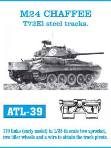 Friulmodel M24 Chaffee T72E1 Type Steel - Track Links with Sprocket and Idler Wheels