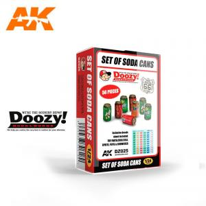 Doozy Modelworks SET OF SODA CANS
