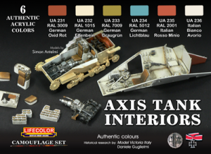 LifeColor INTERIORS OF GERMAN AND ITALIAN TANKS WWII