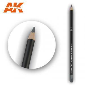 AK Interactive Watercolor Pencil Gun Metal (Graphite)