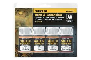 Vallejo Rust & Corrosion Pigment 4x35ml set