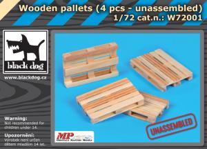 Black Dog Wooden Palets - unassembled (4 pcs.)