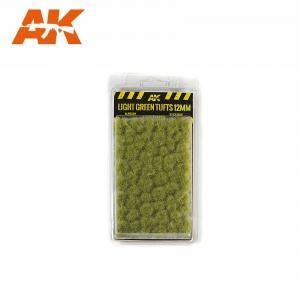 AK Interactive LIGHT GREEN TUFTS 12mm