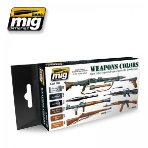 Ammo Mig Jimenez Weapons, color set 6x17ml.