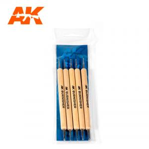 AK Interactive Silicone Brushes - Medium Tip, Small (5 pcs)