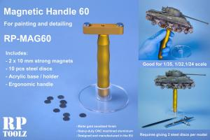 RP Toolz Magnetic Handle 60 w Stand and 10 Steel Discs