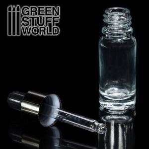 Green Stuff World Empty Glass Bottle w Pipette