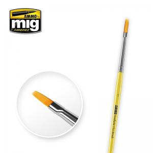 Ammo Mig Jimenez 1 Synthetic Flat Brush
