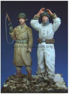 Mantis Miniatures Hands up! - U.S. Infantryman & German POW - Ardennes 1944