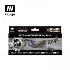Vallejo Model Air - RAF Colors Day Fighters 1941-1945 & P.R.U. (x8)