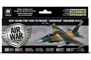 "Vallejo USAF colors post WWII to present ""Aggressor"" Squadron (Part I)"