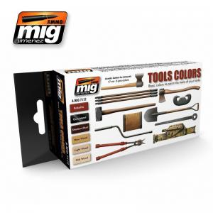 Ammo Mig Jimenez Tools, color set 6x17ml.