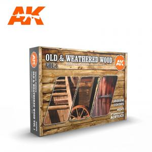 AK Interactive Old & Weathered Wood, Vol 1