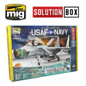 Ammo Mig Jimenez USAF Navy Grey Fighters Solution Box