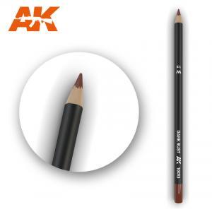 AK Interactive Watercolor Pencil Dark Rust