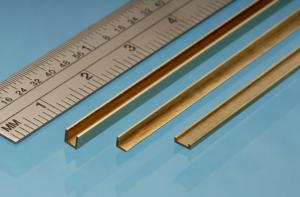 Albion Alloys Brass Angle - 1 x 1 mm