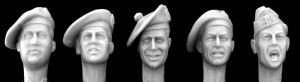 Hornet Models 5 British heads, 2 tam-o-shanters, 2 general service cap
