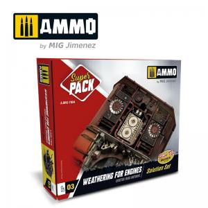 Ammo Mig Jimenez Weathering for Engines - Super Pack