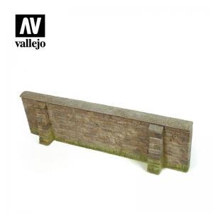 Vallejo Normandy Village Wall 24x7cm