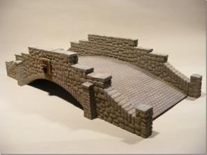 Reality in Scale Large Stone Bridge - 8 resin pcs. Bridge measures 30x12,5x6,5cm (LxWxH)