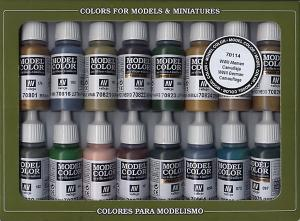 Vallejo Model Color Set - WWII German Camouflage (x16)