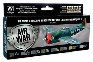 Vallejo Model Air -US Army Air Corps Colors (ETO) WWII (x8)