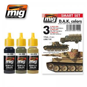 Ammo Mig Jimenez Africa Korps (DAK), color set 3x17ml.