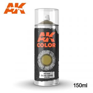 AK Interactive Olive Drab color - Spray 150ml