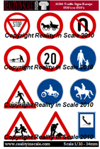 Reality in Scale European Traffic Signs 1930's - 1950's